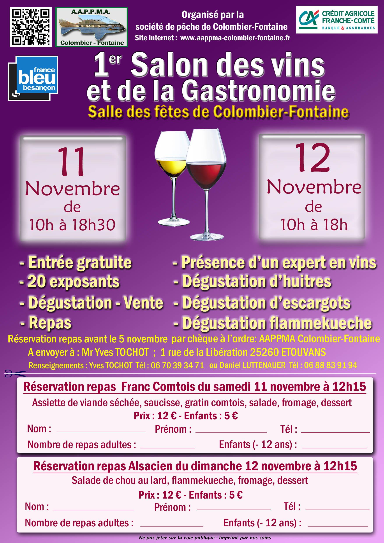 1er salon des vins et de la gastronomie la salle des for Salon de la gastronomie brest 2017